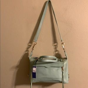 NWT Rebecca Minkoff mab mini satchel sea glass